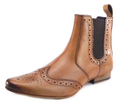 Frank James Harrow Tan Pointed Boots